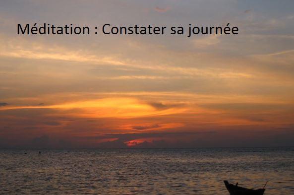 MÉDITATION GUIDÉE : CONSTATER
